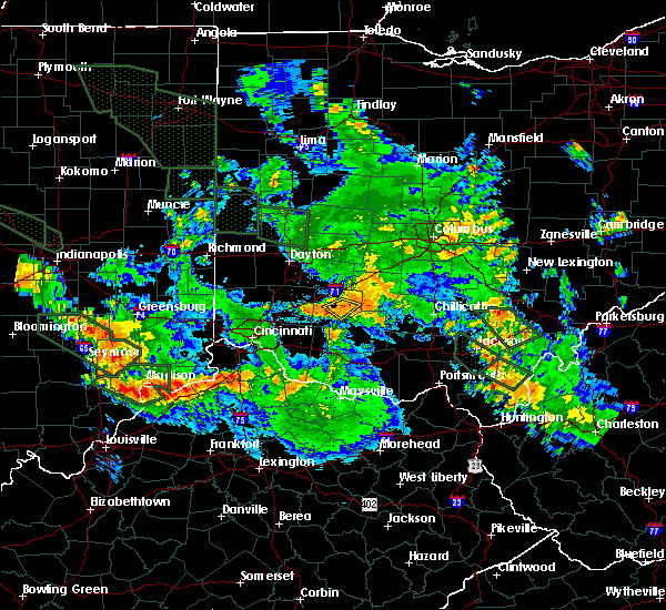 Radar Image for Severe Thunderstorms near New Vienna, OH at 7/14/2015 12:56 AM EDT
