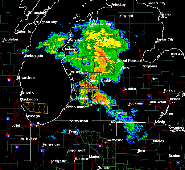 Radar Image for Severe Thunderstorms near Beechwood, MI at 7/14/2015 12:58 AM EDT