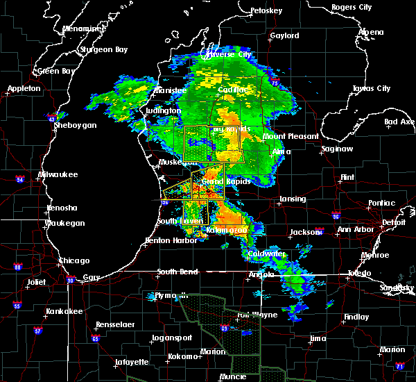 Radar Image for Severe Thunderstorms near Otsego, MI at 7/14/2015 1:08 AM EDT