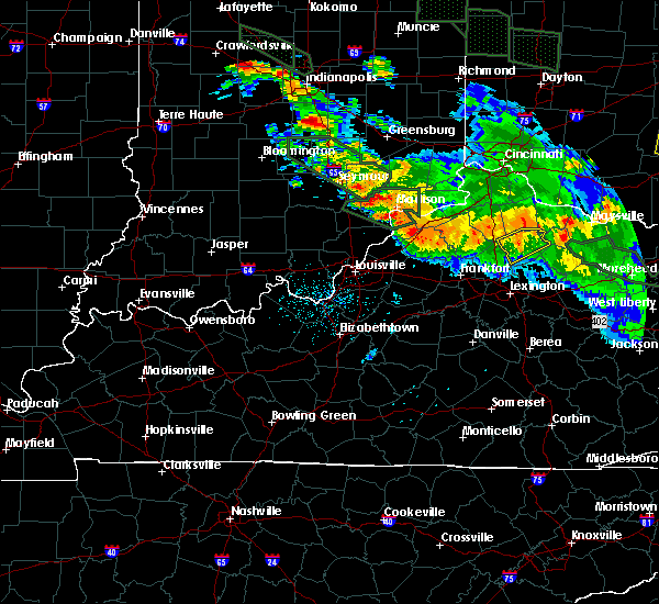 Radar Image for Severe Thunderstorms near Milton, KY at 7/14/2015 1:24 AM EDT