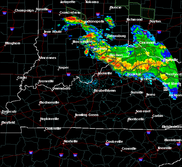 Radar Image for Severe Thunderstorms near Milton, KY at 7/14/2015 1:36 AM EDT