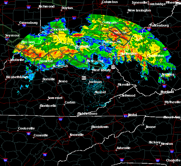 Radar Image for Severe Thunderstorms near Carlisle, KY at 7/14/2015 1:40 AM EDT