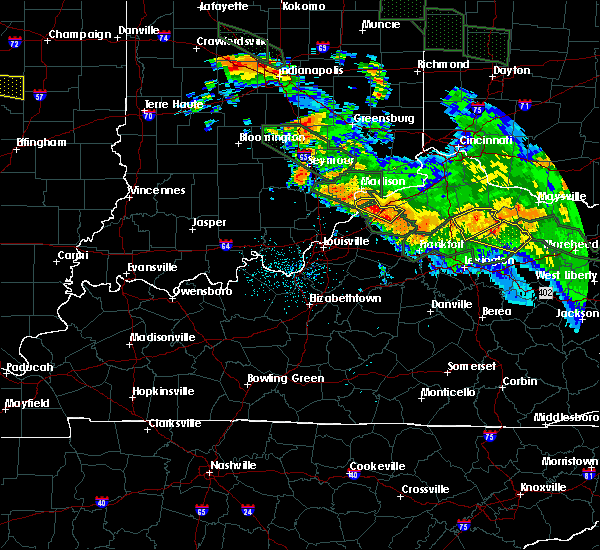 Radar Image for Severe Thunderstorms near Bedford, KY at 7/14/2015 1:46 AM EDT