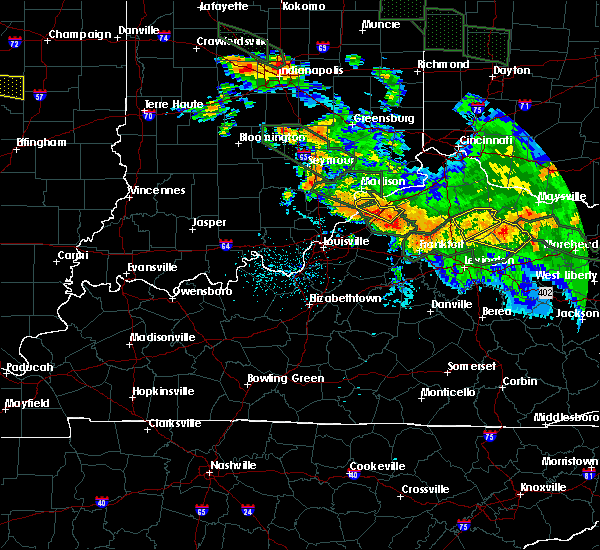 Radar Image for Severe Thunderstorms near Westport, KY at 7/14/2015 1:53 AM EDT