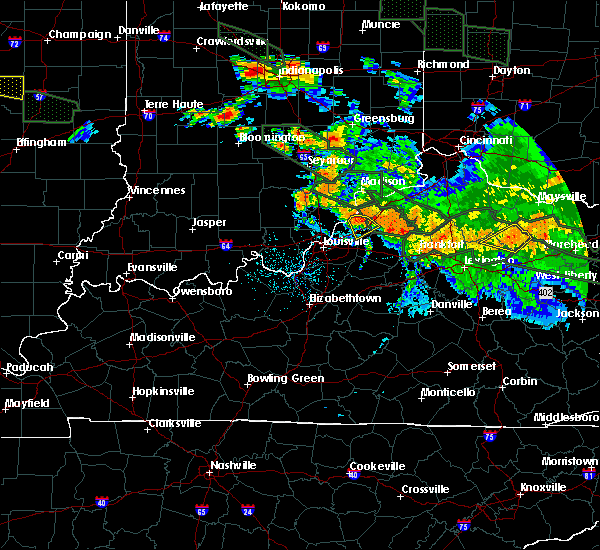 Radar Image for Severe Thunderstorms near Westport, KY at 7/14/2015 2:10 AM EDT