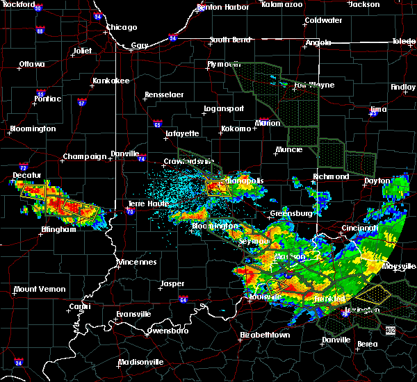 Radar Image for Severe Thunderstorms near Indianapolis, IN at 7/14/2015 2:17 AM EDT