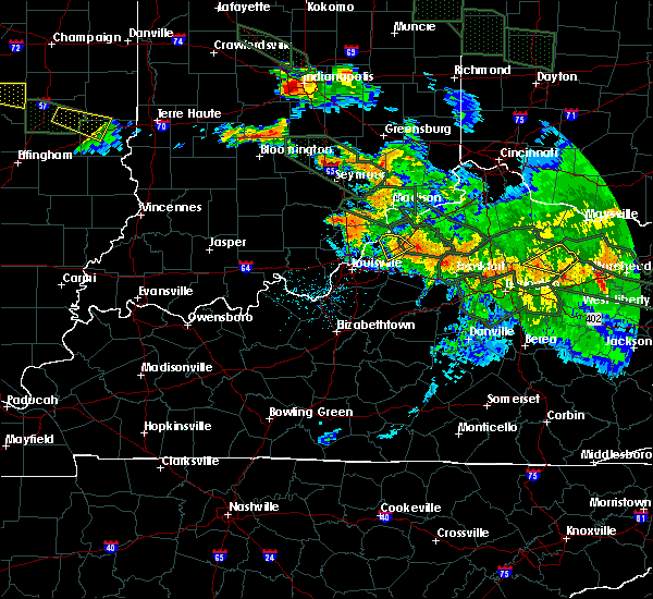 Radar Image for Severe Thunderstorms near Utica, KY at 7/14/2015 2:19 AM EDT