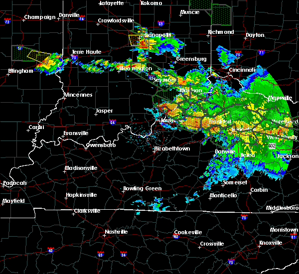 Radar Image for Severe Thunderstorms near Utica, KY at 7/14/2015 2:37 AM EDT