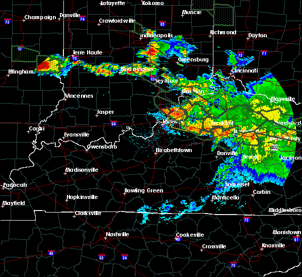 Radar Image for Severe Thunderstorms near Worthington Hills, KY at 7/14/2015 2:46 AM EDT