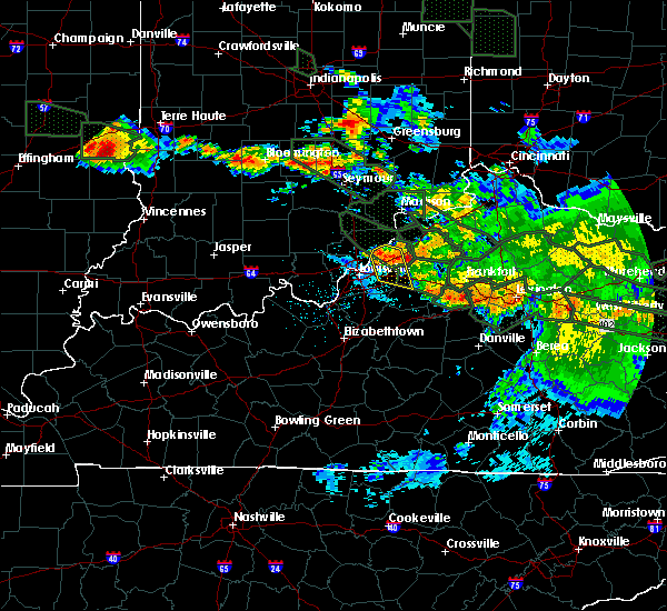 Radar Image for Severe Thunderstorms near Worthington Hills, KY at 7/14/2015 2:57 AM EDT