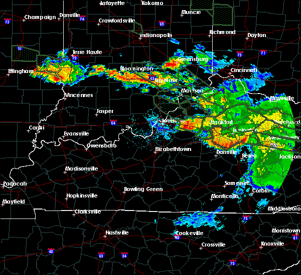 Radar Image for Severe Thunderstorms near Frankfort, KY at 7/14/2015 3:16 AM EDT
