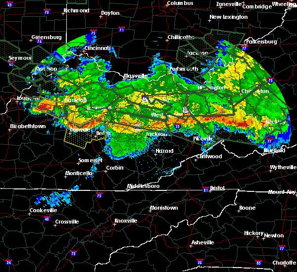 Radar Image for Severe Thunderstorms near Danville, KY at 7/14/2015 3:23 AM EDT