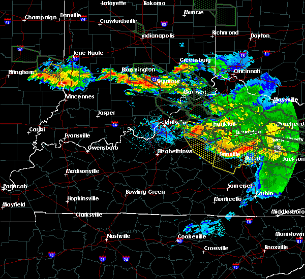 Radar Image for Severe Thunderstorms near Harrodsburg, KY at 7/14/2015 3:30 AM EDT