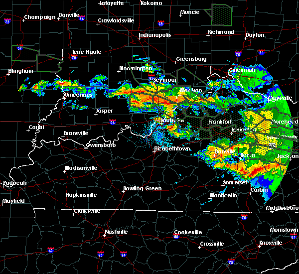 Radar Image for Severe Thunderstorms near Westport, KY at 7/14/2015 4:23 AM EDT