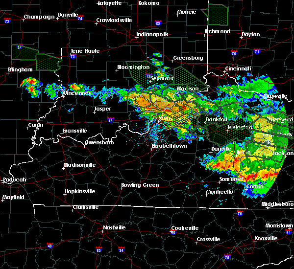 Radar Image for Severe Thunderstorms near Worthington Hills, KY at 7/14/2015 4:38 AM EDT