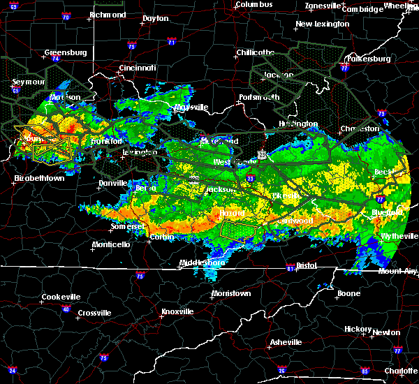 Radar Image for Severe Thunderstorms near Benham, KY at 7/14/2015 5:00 AM EDT