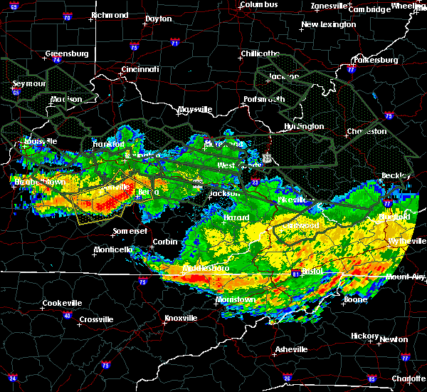 Radar Image for Severe Thunderstorms near McKee, KY at 7/14/2015 6:08 AM EDT