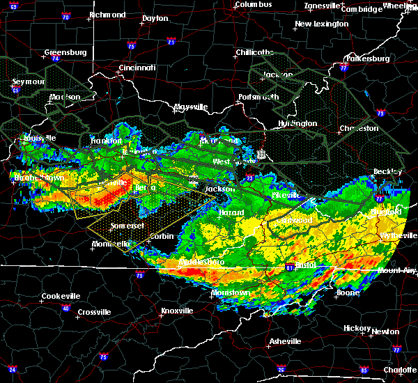 Radar Image for Severe Thunderstorms near Danville, KY at 7/14/2015 6:10 AM EDT