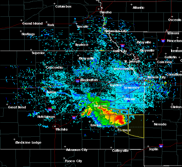 Radar Image for Severe Thunderstorms near Westphalia, KS at 7/14/2015 8:57 AM CDT
