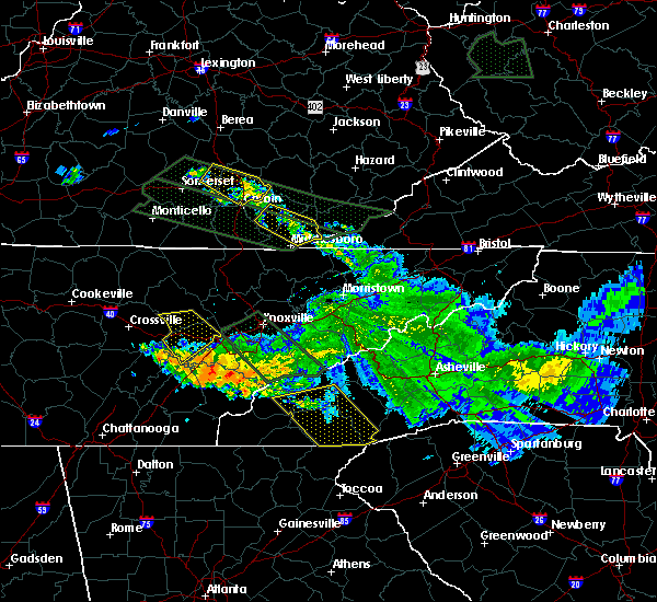 Radar Image for Severe Thunderstorms near Webster, NC at 7/14/2015 11:01 AM EDT