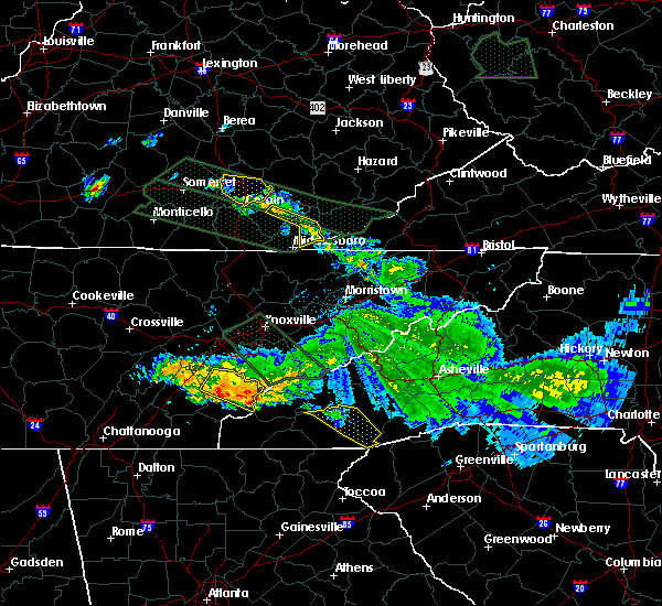 Radar Image for Severe Thunderstorms near Franklin, NC at 7/14/2015 11:20 AM EDT