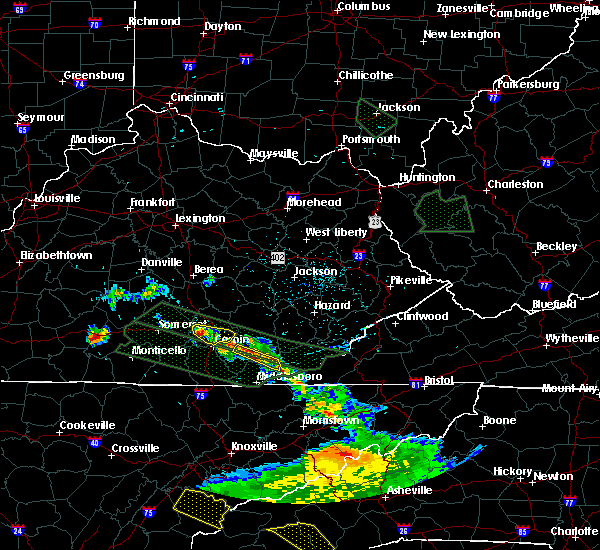 Radar Image for Severe Thunderstorms near London, KY at 7/14/2015 11:28 AM EDT