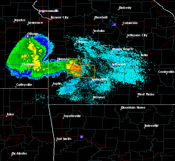 Radar Image for Severe Thunderstorms near Bolivar, MO at 7/14/2015 10:54 AM CDT