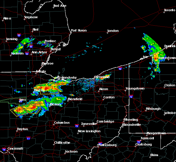 Radar Image for Severe Thunderstorms near New Riegel, OH at 7/14/2015 1:00 PM EDT