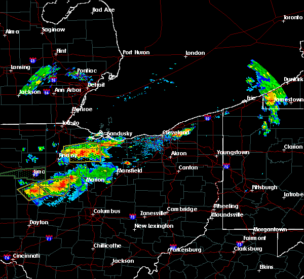 Radar Image for Severe Thunderstorms near Bedford Heights, OH at 7/14/2015 1:06 PM EDT