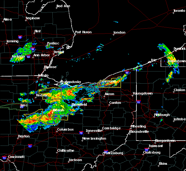 Radar Image for Severe Thunderstorms near Bedford Heights, OH at 7/14/2015 1:32 PM EDT
