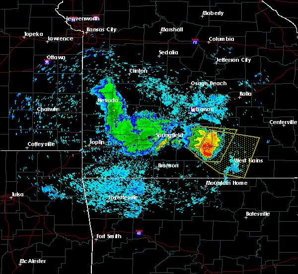 Radar Image for Severe Thunderstorms near Summersville, MO at 7/14/2015 12:44 PM CDT