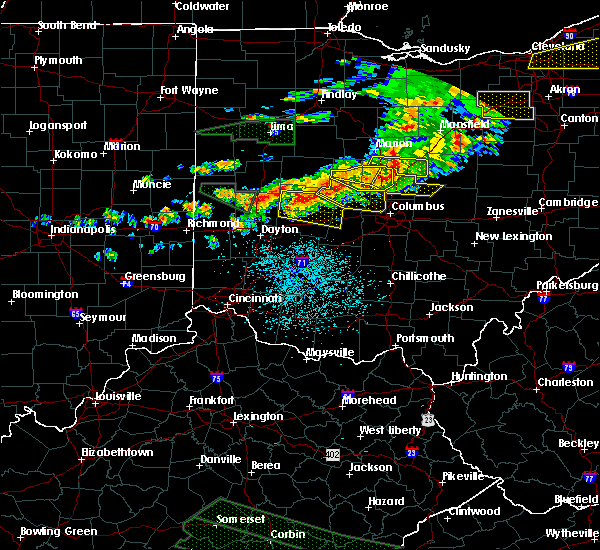 Radar Image for Severe Thunderstorms near St. Paris, OH at 7/14/2015 1:44 PM EDT