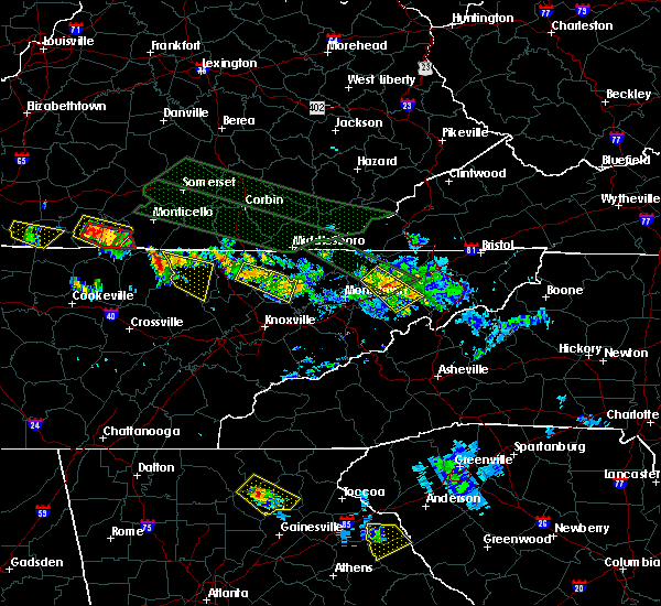 Radar Image for Severe Thunderstorms near Oneida, TN at 7/14/2015 2:03 PM EDT