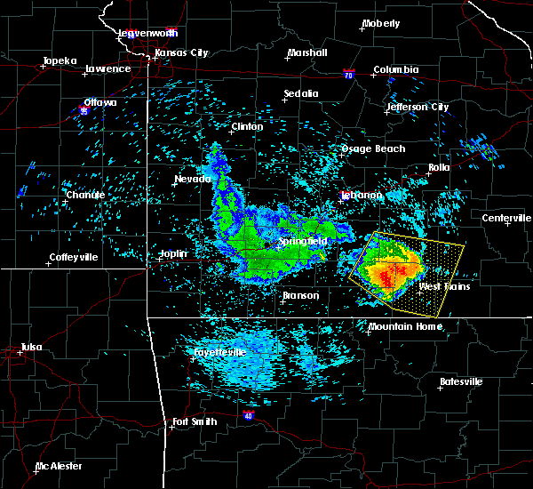 Radar Image for Severe Thunderstorms near Brandsville, MO at 7/14/2015 1:06 PM CDT