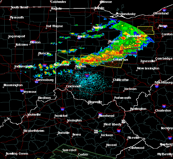 Radar Image for Severe Thunderstorms near Westerville, OH at 7/14/2015 2:06 PM EDT