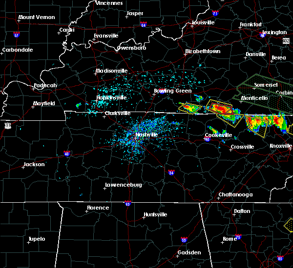 Radar Image for Severe Thunderstorms near Gamaliel, KY at 7/14/2015 1:20 PM CDT