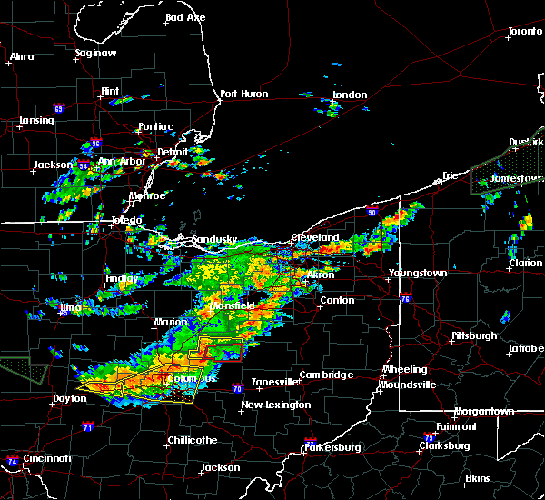 Radar Image for Severe Thunderstorms near Bedford Heights, OH at 7/14/2015 2:19 PM EDT