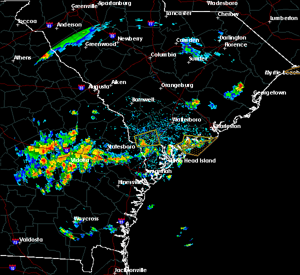 Radar Image for Severe Thunderstorms near Edisto Beach, SC at 7/14/2015 2:29 PM EDT