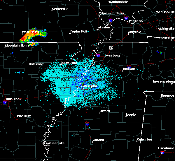 Radar Image for Severe Thunderstorms near Hardy, AR at 7/14/2015 1:36 PM CDT