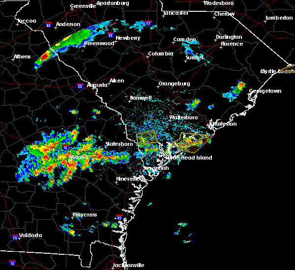 Radar Image for Severe Thunderstorms near Edisto Beach, SC at 7/14/2015 2:40 PM EDT