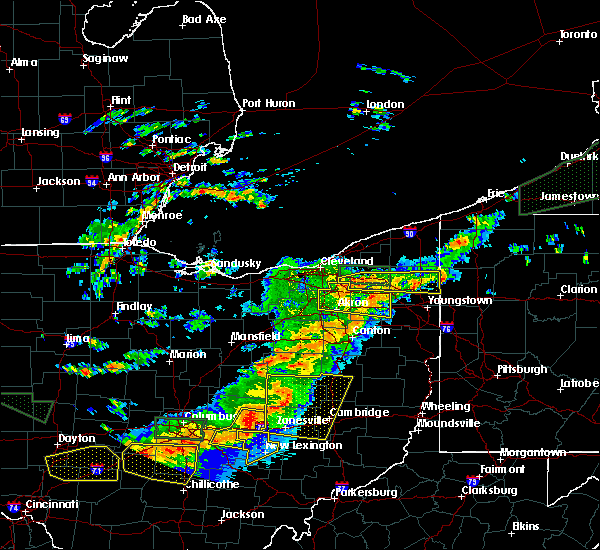 Radar Image for Severe Thunderstorms near Meyers Lake, OH at 7/14/2015 2:57 PM EDT