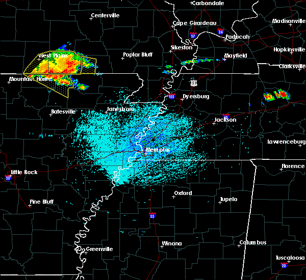 Radar Image for Severe Thunderstorms near Salem, AR at 7/14/2015 1:58 PM CDT