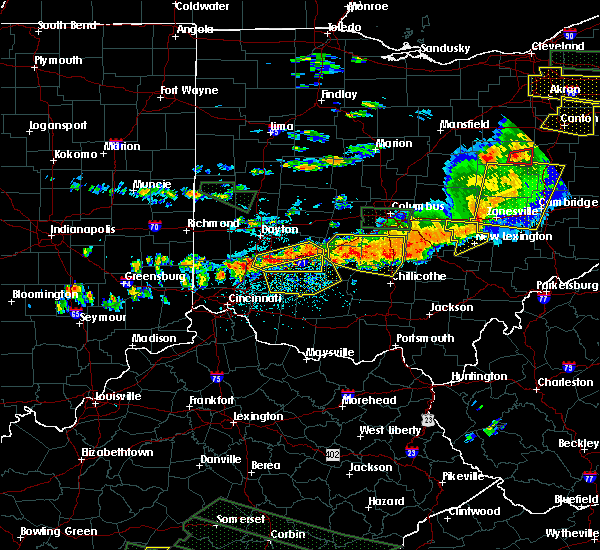 Radar Image for Severe Thunderstorms near Leesburg, OH at 7/14/2015 3:13 PM EDT