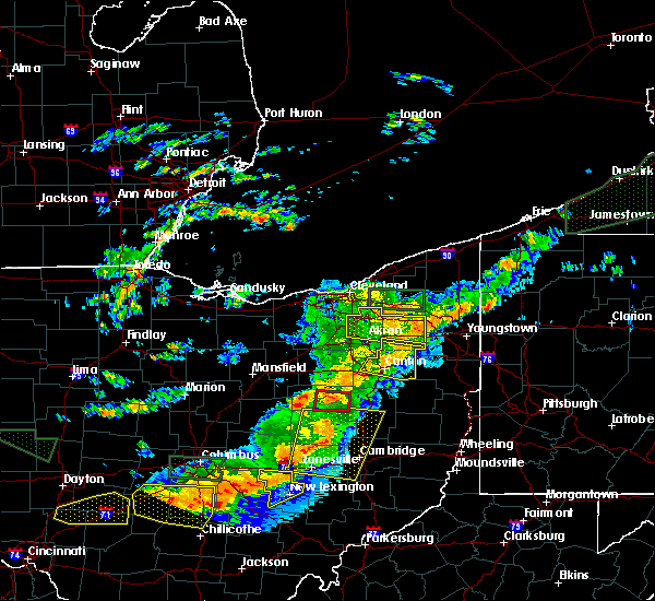 Radar Image for Severe Thunderstorms near Walnut Creek, OH at 7/14/2015 3:12 PM EDT