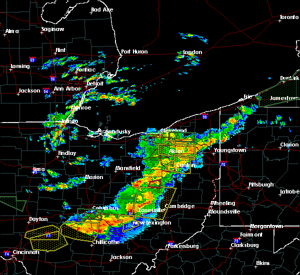 Radar Image for Severe Thunderstorms near South Canal, OH at 7/14/2015 3:15 PM EDT