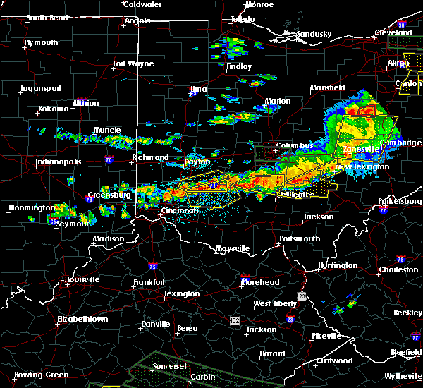 Radar Image for Severe Thunderstorms near Five Points, OH at 7/14/2015 3:23 PM EDT