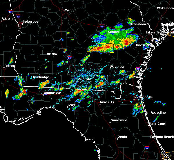 Radar Image for Severe Thunderstorms near Baxley, GA at 7/14/2015 3:42 PM EDT