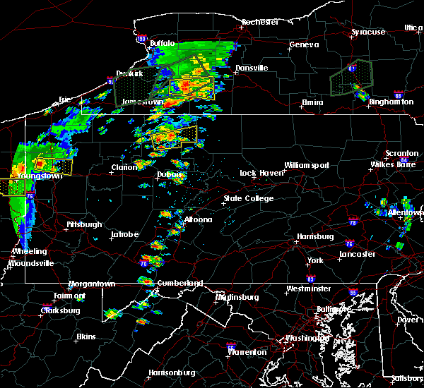 Radar Image for Severe Thunderstorms near Wilcox, PA at 7/14/2015 3:41 PM EDT