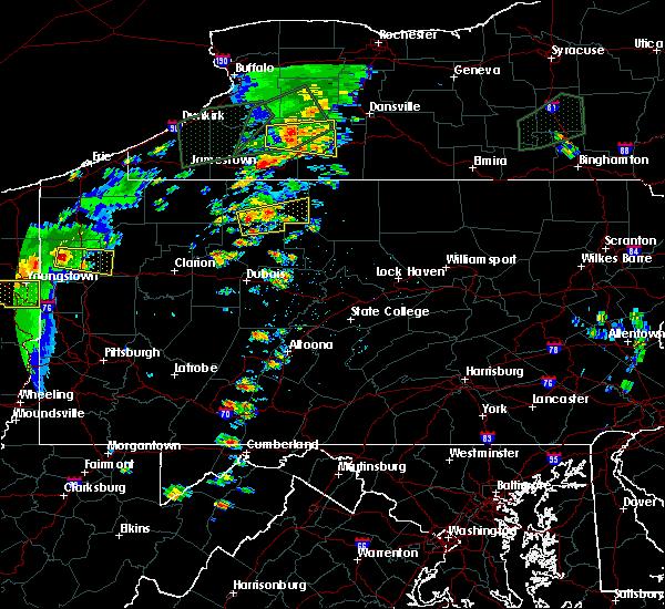 Radar Image for Severe Thunderstorms near Kane, PA at 7/14/2015 3:41 PM EDT