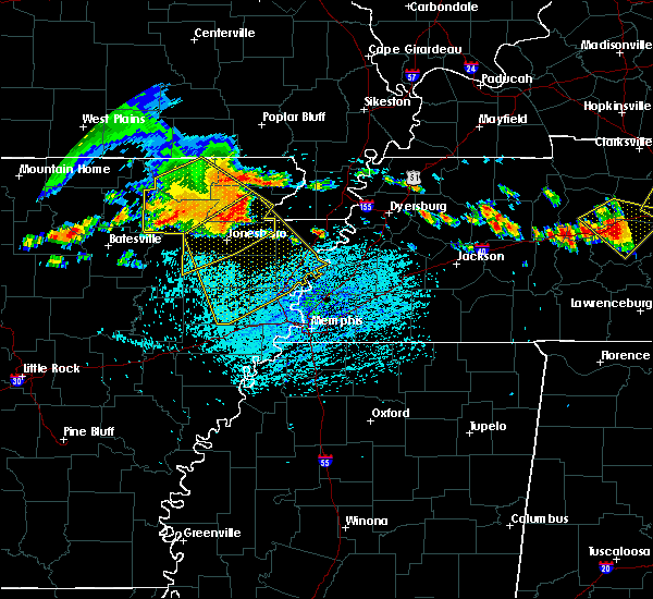 Radar Image for Severe Thunderstorms near Paragould, AR at 7/14/2015 2:48 PM CDT